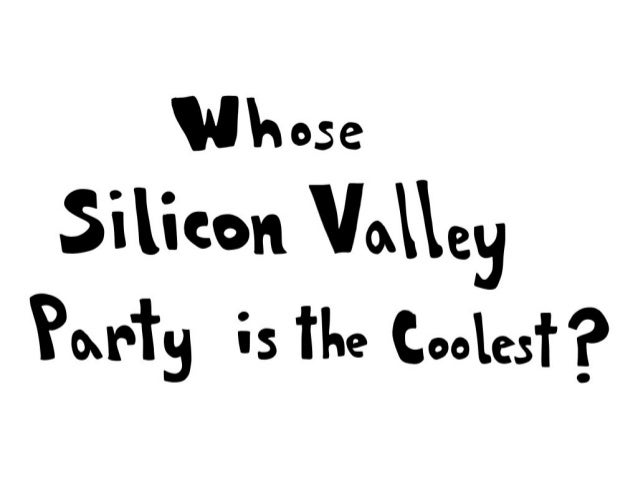 Silicon valley party comic strip