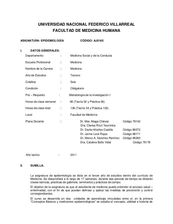 Sillabo epidemiologia medicina 2011