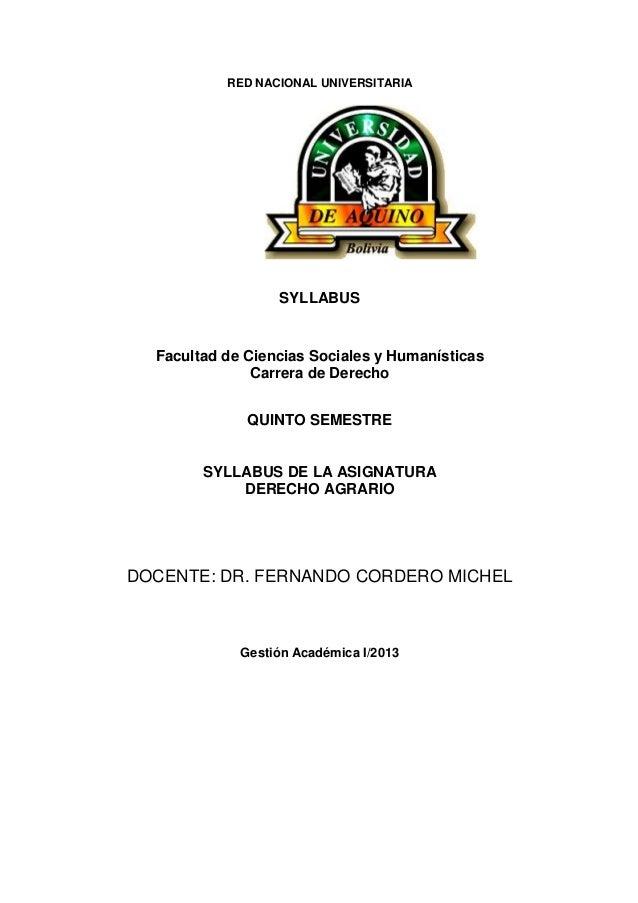 Sillabus dr. fernando cordero michel