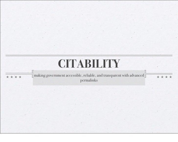 Silonas Citability