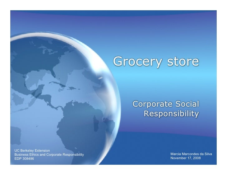 Grocery store                                                    Corporate Social                                         ...