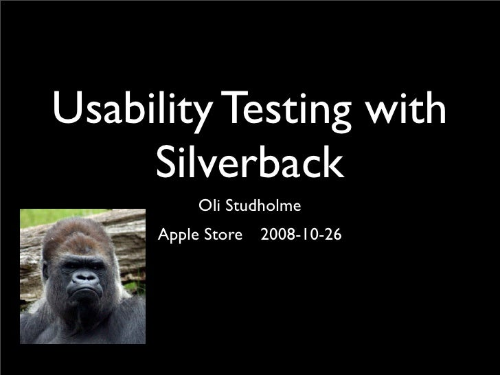 Usability testing and Silverback (in Japanese)