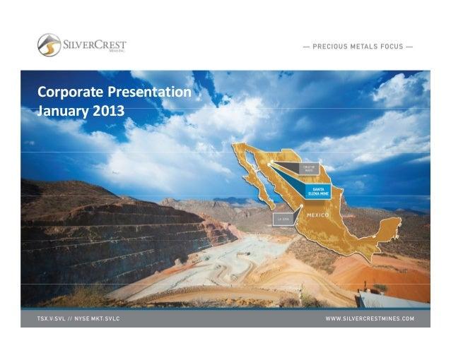 Corporate PresentationJanuary 2013