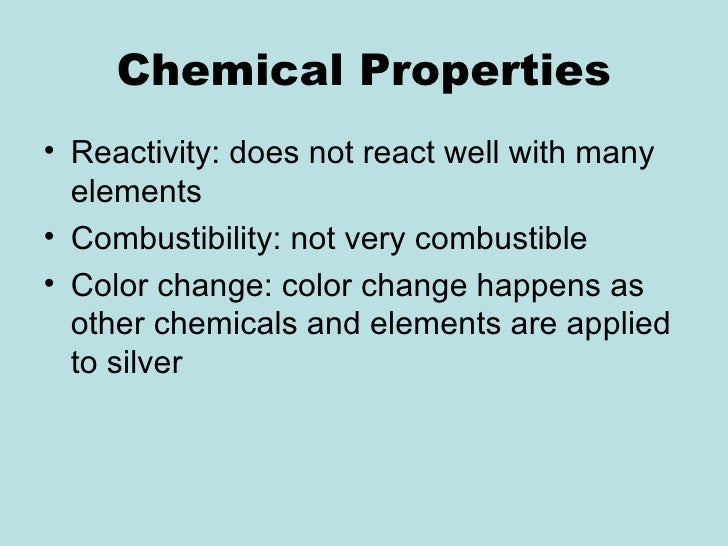 Chemical Properties In Gold