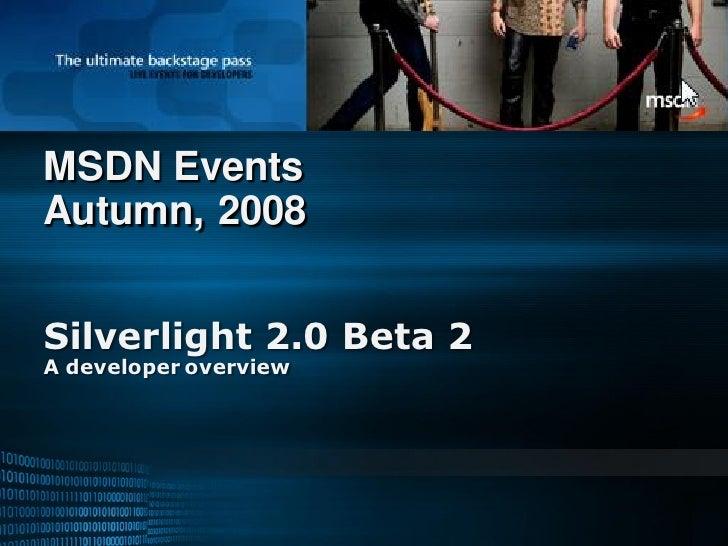 Silverlight 2 For Developers