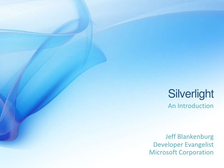 Silverlight   An Introduction