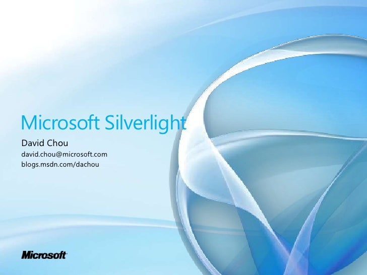 Silverlight 4 Briefing