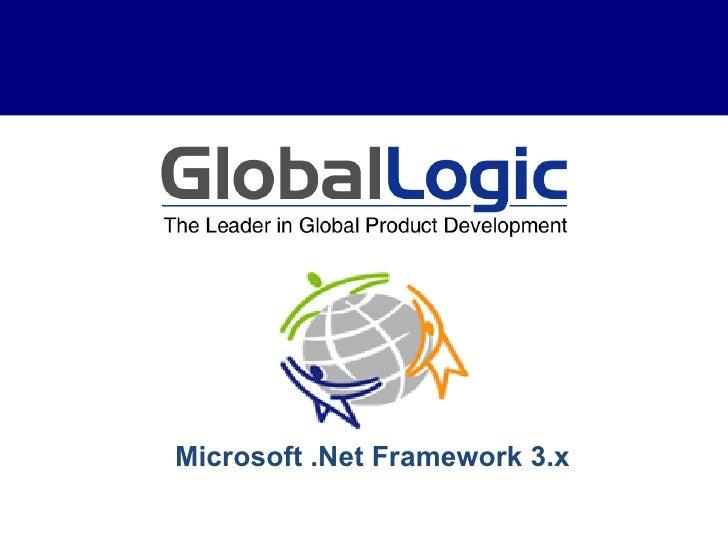 Microsoft .Net Framework 3.x