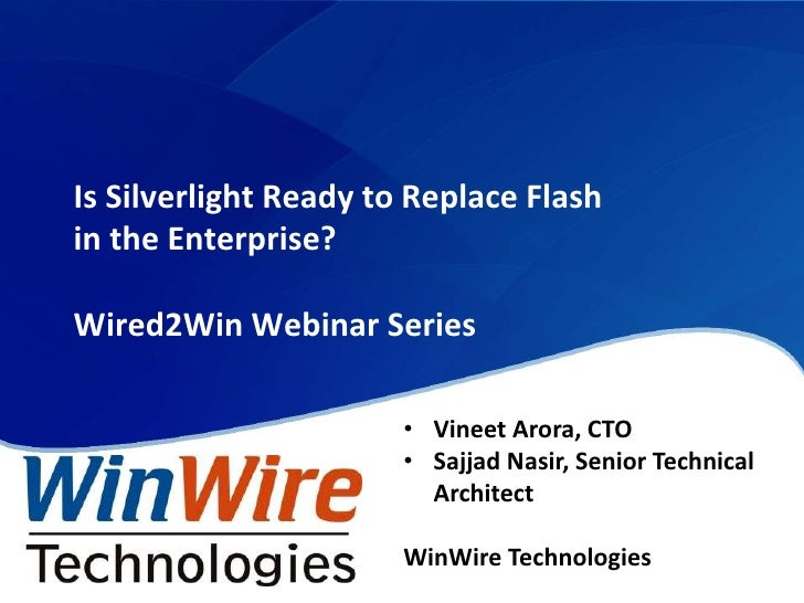 Is Silverlight Ready to Replace Flash in the Enterprise?