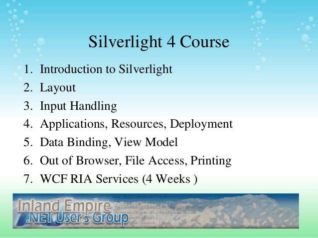 Silverlight week2