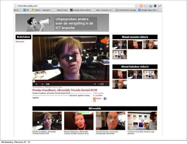 Silverside presentatie social media in business