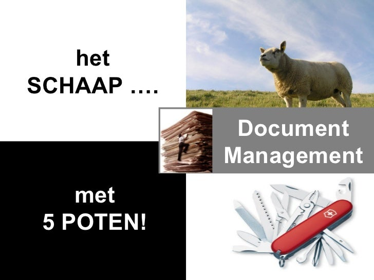 met 5 POTEN! het SCHAAP …. Document Management