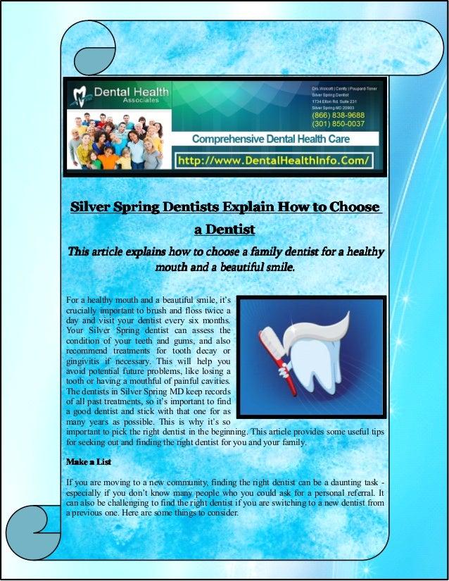 SilverSilverSilverSilver SpringSpringSpringSpring DentistsDentistsDentistsDentists ExplainExplainExplainExplain HowHowHowH...
