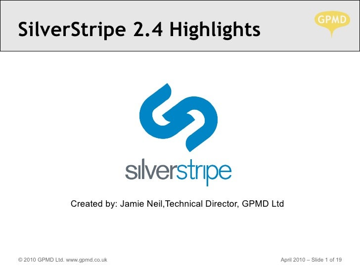Silverstripe 2.4-highlights-gpmd