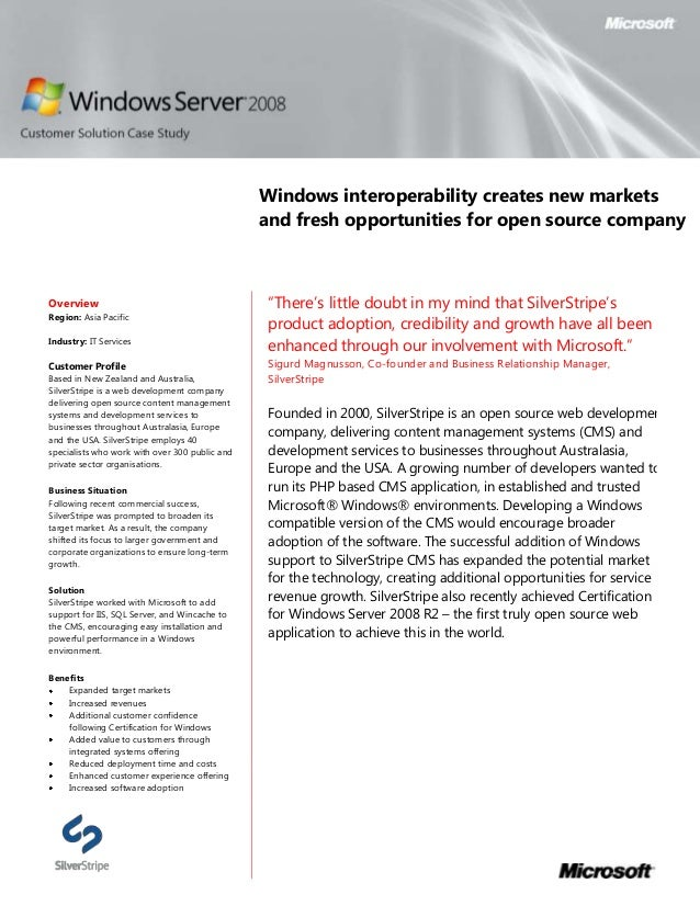 Windows interoperability creates new markets                                                and fresh opportunities for op...