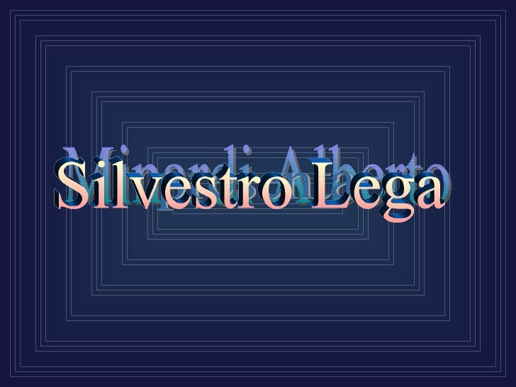 Silvestro Lega nasce a Modigliana nel 1826;                                       svolse la sua formazione giovanile press...