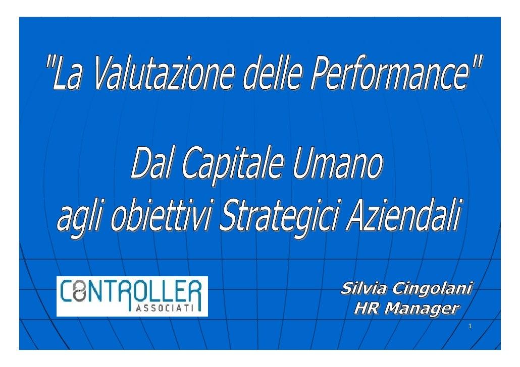 Silvia Cingolani Introduzione Ai Sistemi Di Valutazione Delle Performance