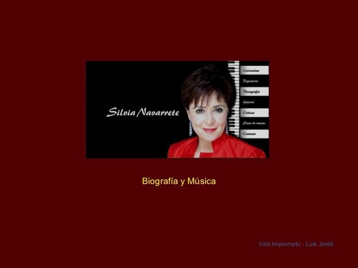 Biografía y Música Vals Impromptu - Luis Jordá