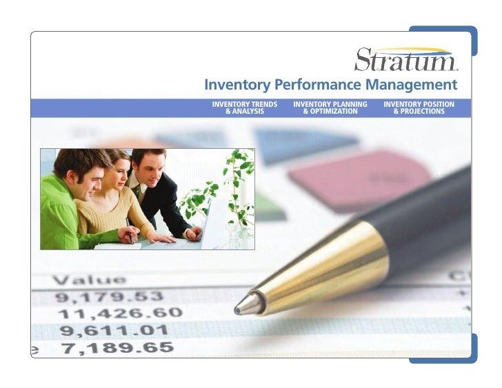 Silvon Stratum - Inventory Analysis & Inventory Performance Management - Solution Overview