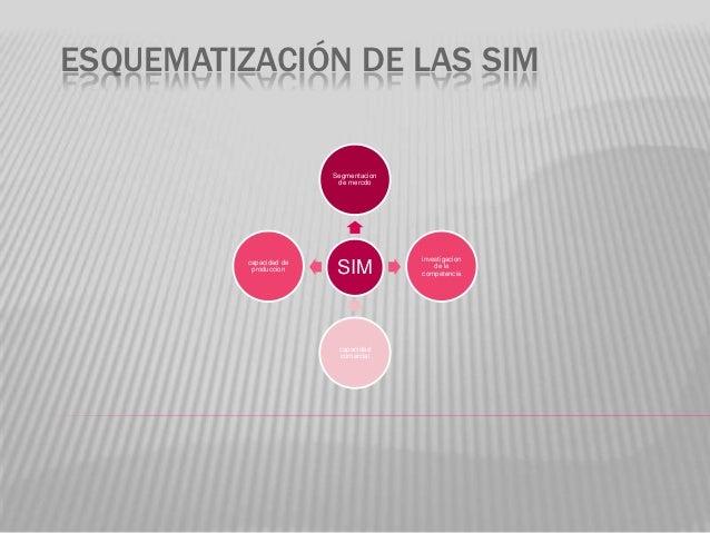 ESQUEMATIZACIÓN DE LAS SIM                         Segmentacion                          de mercdo                        ...