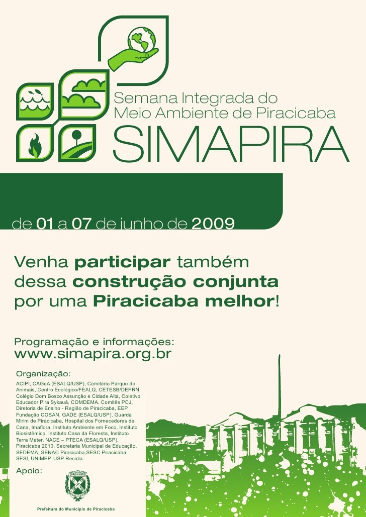 Semana Integrada do                                             Meio Ambiente de Piracicaba                               ...