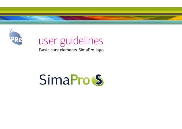 user guidelinesBasic core elements SimaPro logo