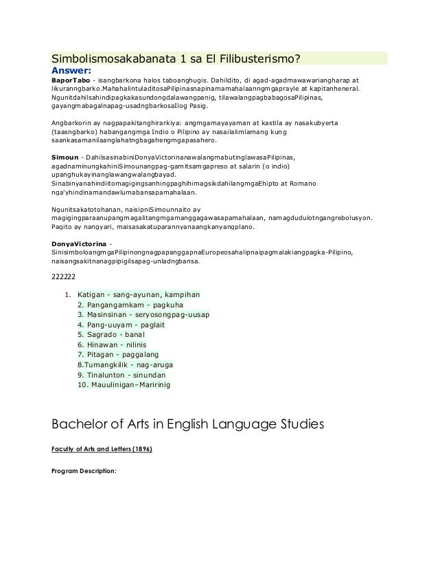 thesis statement tagalog version This resource provides tips for creating a thesis statement and examples of different types of thesis statements.