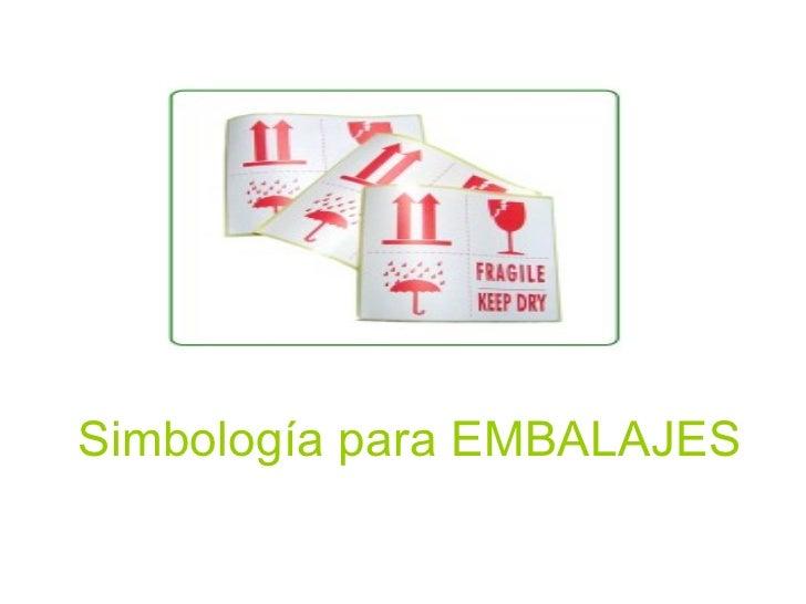 Simbología para EMBALAJES