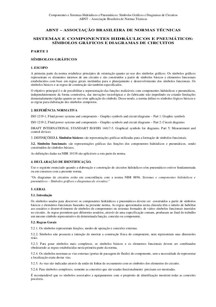 Componentes e Sistemas Hidráulicos e Pneumáticos: Símbolos Gráficos e Diagramas de Circuitos                              ...