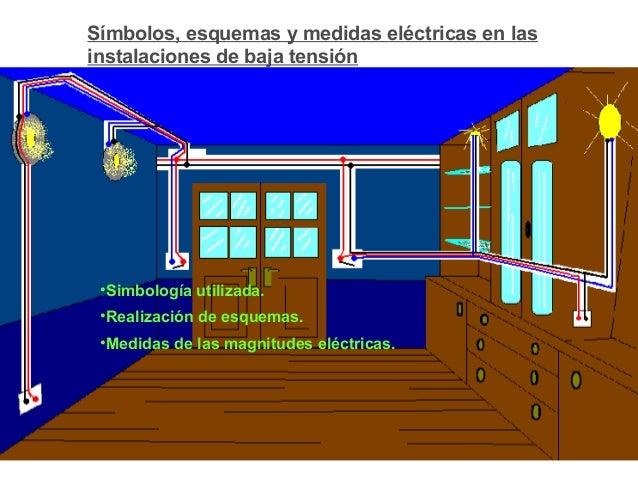 Símbolos, esquemas y medidas eléctricas en las instalaciones de baja tensión •Simbología utilizada. •Realización de esquem...