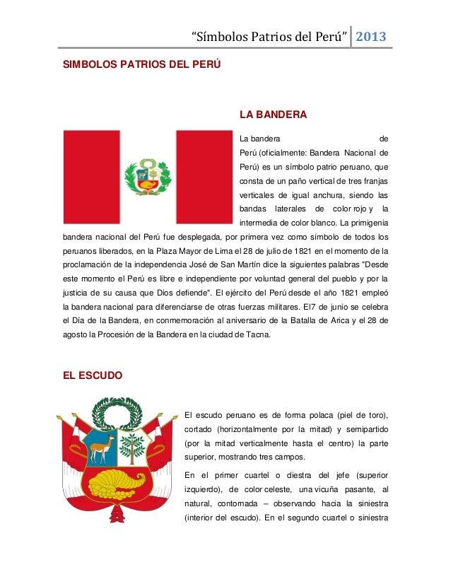 Simbolos patrios del perú