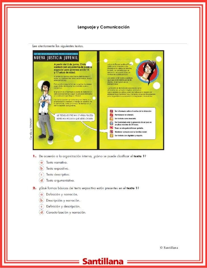 Lenguaje y ComunicaciónNombre:………………………………………………………….. Curso: 8º básico                                            © S an ...