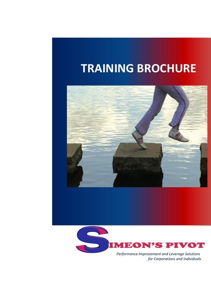 Simeon's pivot training brochure