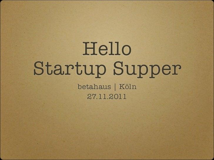 betahaus Köln: Startup Supper