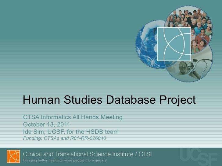 Human Studies Database Project (demo)