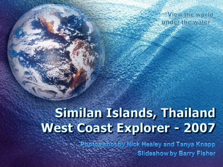 Similan Islands 2007