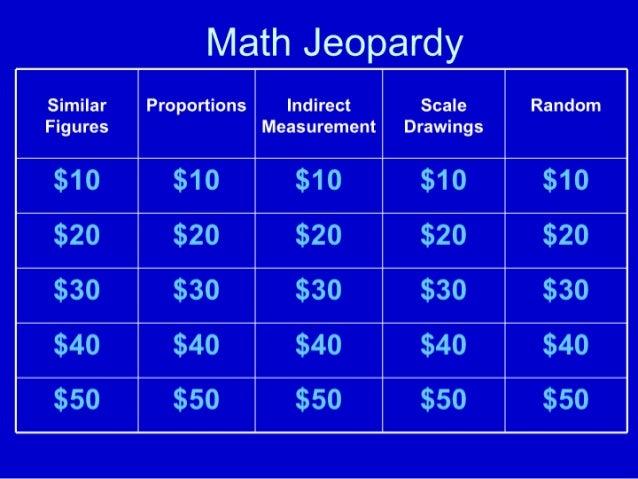 Similar Figures Jeopardy
