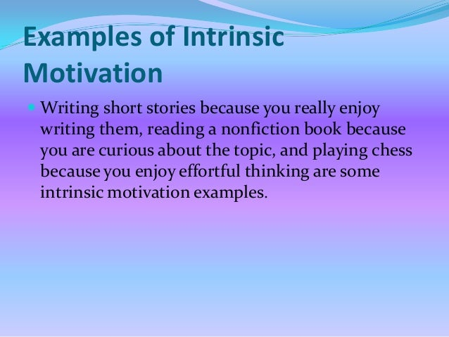 research papers on intrinsic motivation The impact of rewards on employee performance in development need assessment of employee gives them an intrinsic motivation frey (1997) the relationship between extrinsic and intrinsic rewards hypothesis: the research process is the quantitative study.