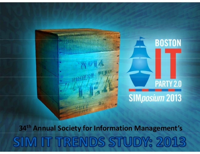 34th Annual Society for Information Management's