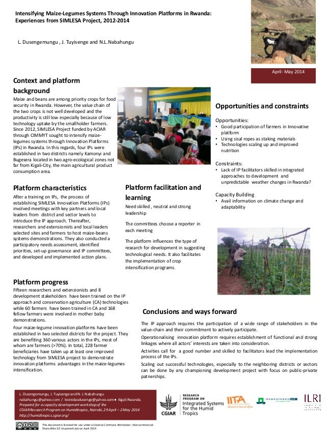 Context and platform background Maize and beans are among priority crops for food security in Rwanda. However, the value c...