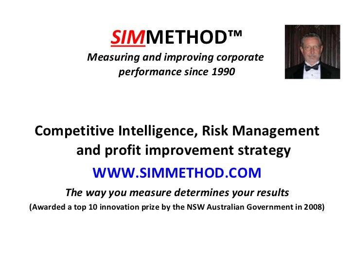 Simmethod Presentation Sept 2010,1