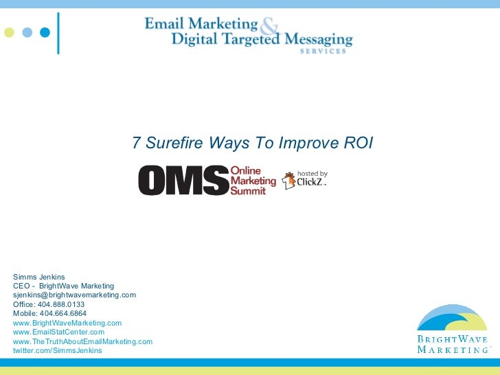7 Surefire Ways to Improve ROI for Your Email Program - BrightWave Marketing