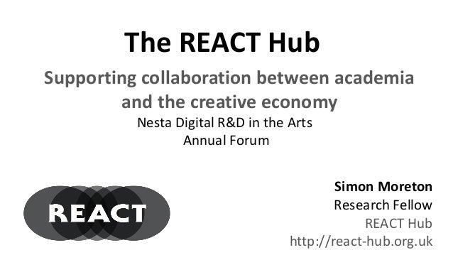 Dr. Simon Moreton: Digital R&D in the Arts Annual Forum