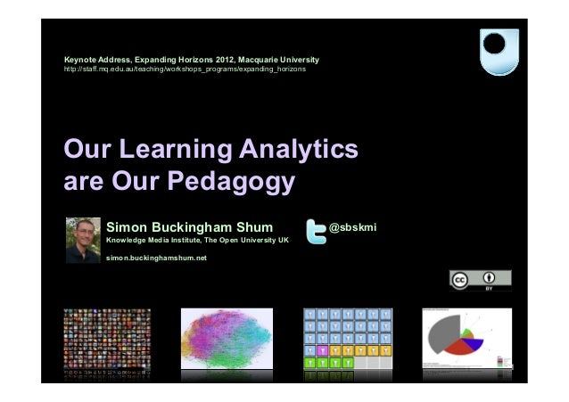 Our Learning Analytics are Our Pedagogy