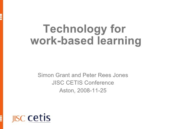 Technology for Work-Based Learning, 1