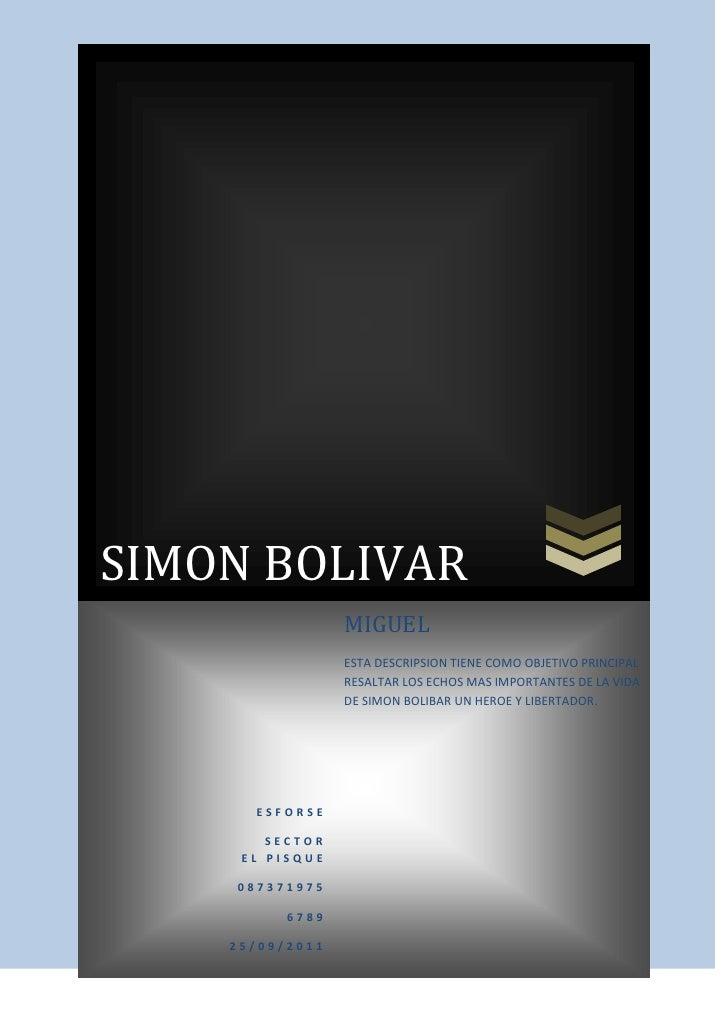 Simon bolivar para subir