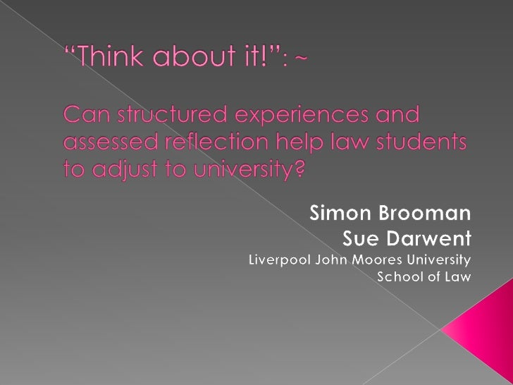 Simon Brooman - assessing reflection