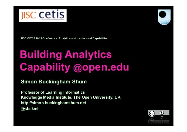Building Analytics Capability @open.edu