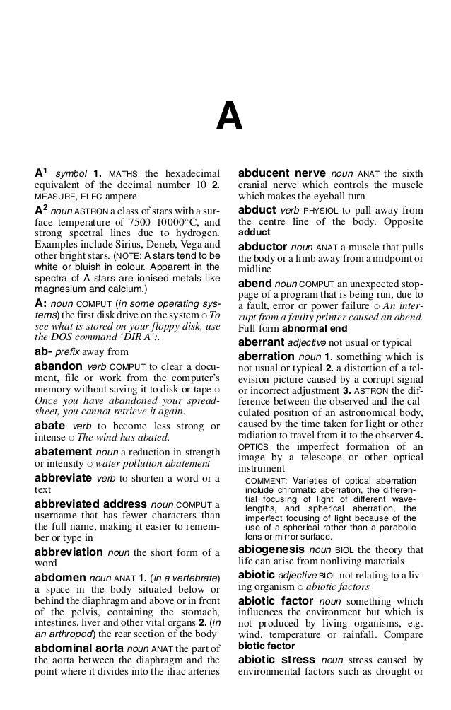 Binary options dictionary