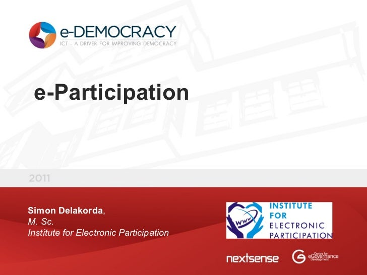 [2011] e-Participation - Simon Delakorda